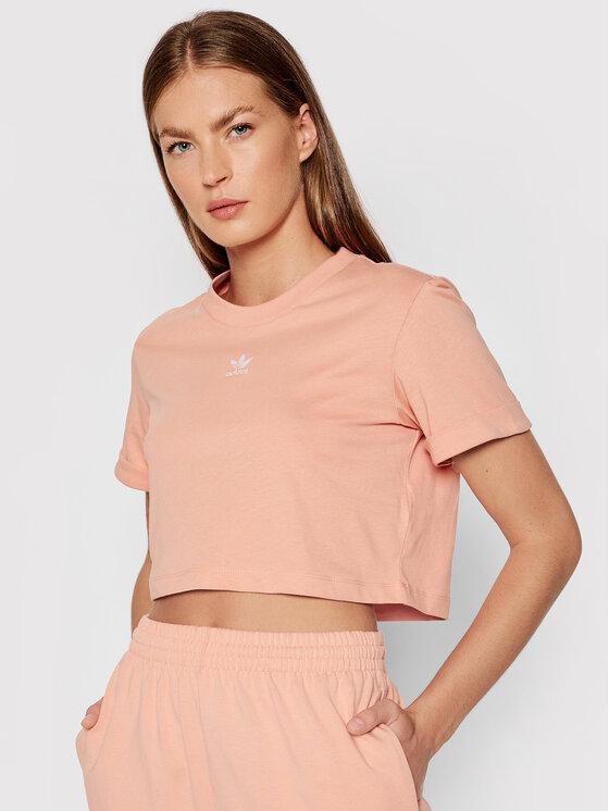 adidas Marškinėliai adicolor Essentials Cropped H37883 Rožinė Standard Fit