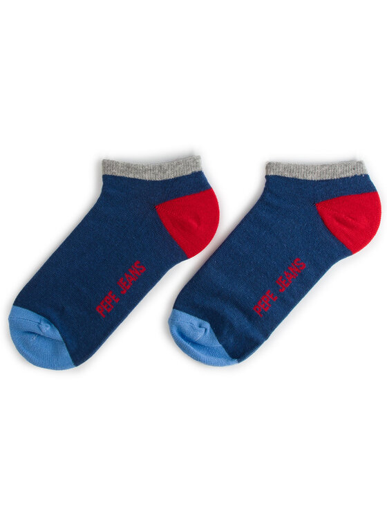 Pepe Jeans Pepe Jeans 3er-Set niedrige Unisex-Socken Elmo PMU10482 Dunkelblau