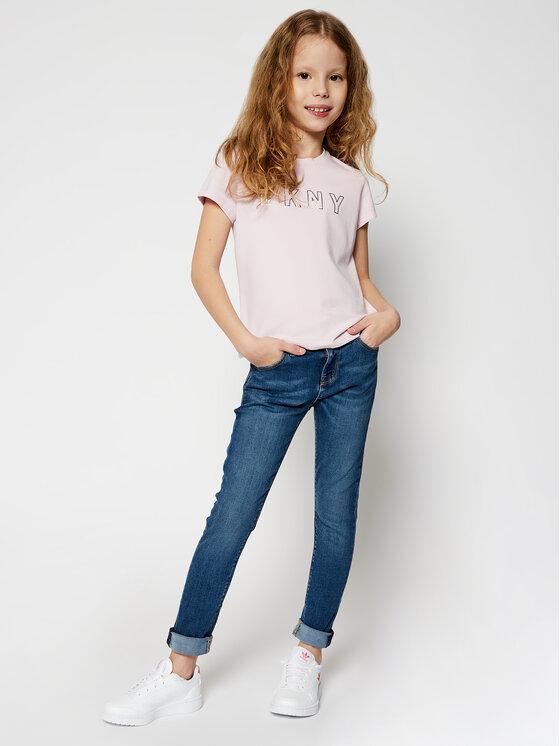 DKNY DKNY T-Shirt D35Q77 Różowy Regular Fit