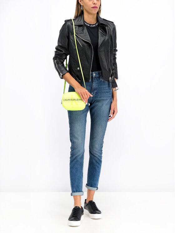 Calvin Klein Jeans Calvin Klein Jeans Кожено яке J20J211544 Черен Regular Fit