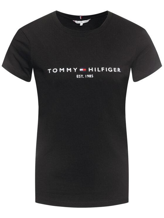 Tommy Hilfiger Tommy Hilfiger Tričko Essential WW0WW26868 Čierna Regular Fit