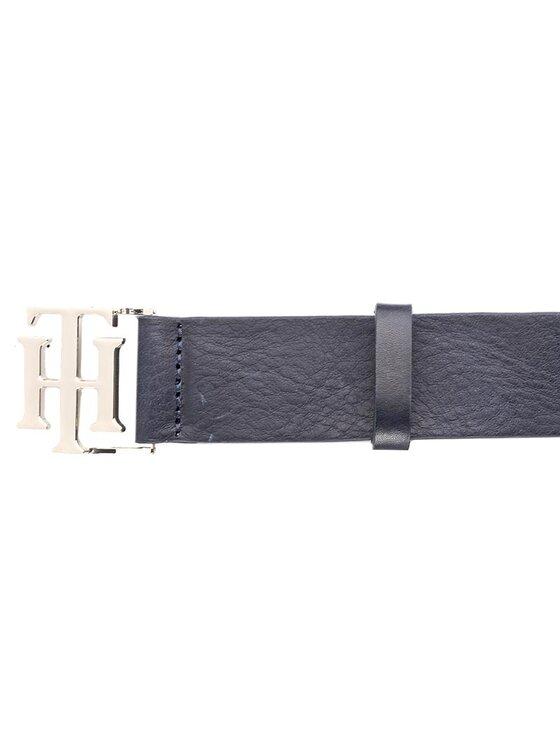 Tommy Hilfiger Tommy Hilfiger Cintura da donna Th Buckle Belt 3.5 AW0AW04467 75 Blu scuro