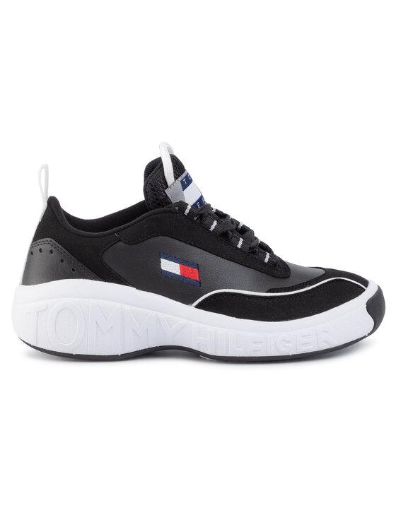 Tommy Jeans Tommy Jeans Sneakers Heritage Low Cut Icon EM0EM00391 Negru