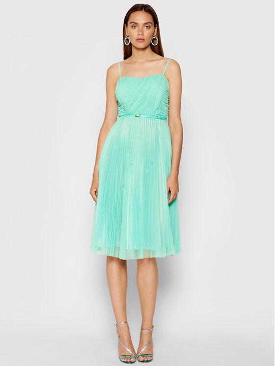 Rinascimento Kokteilinė suknelė CFC0103673003 Žalia Regular Fit