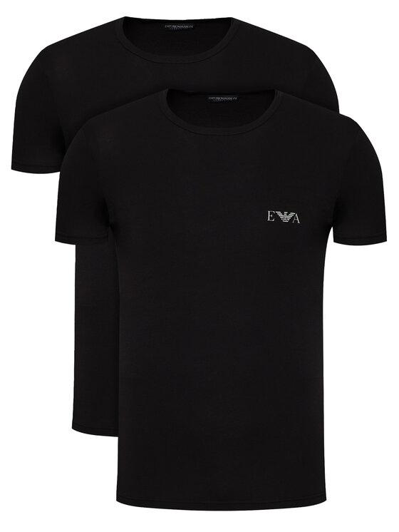 Emporio Armani Underwear 2 marškinėlių komplektas 111670 1P715 07320 Juoda Regular Fit