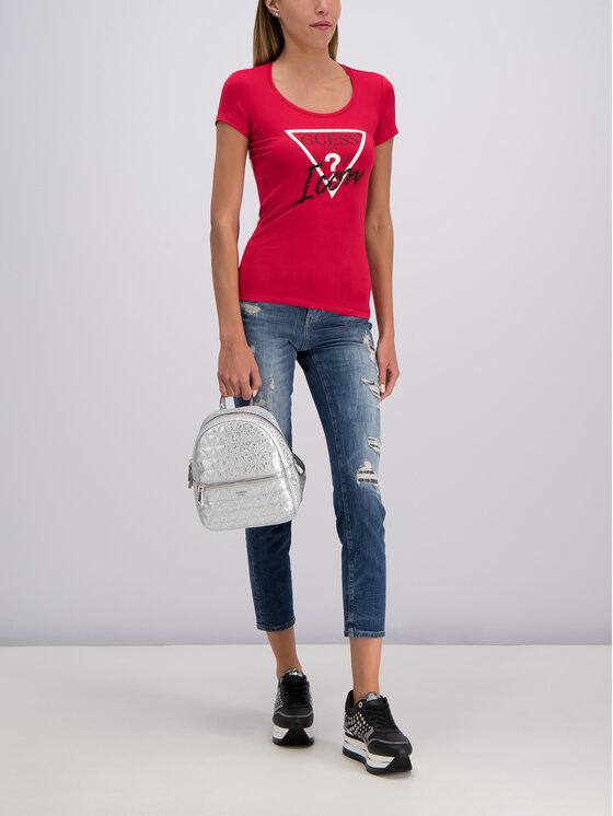 Guess Guess T-shirt W93I89 J1300 Rouge Slim Fit