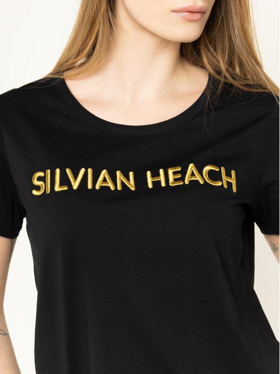 Silvian Heach Silvian Heach Marškinėliai Sivingo PGP20675TS Juoda Regular Fit