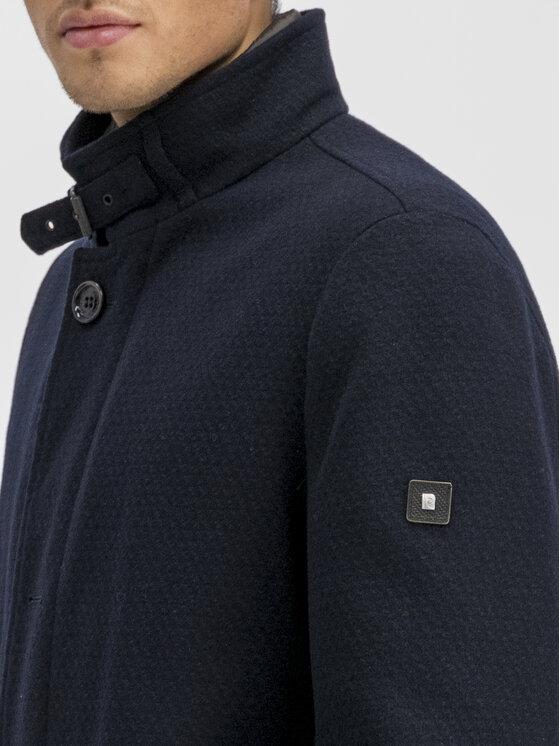 Pierre Cardin Pierre Cardin Cappotto di lana 69130 Blu scuro Regular Fit