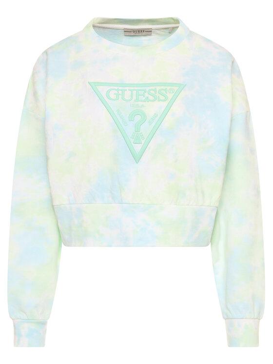 Guess Guess Bluza Mirtilla Fleece W0GQ13 K9QD0 Zielony Oversize
