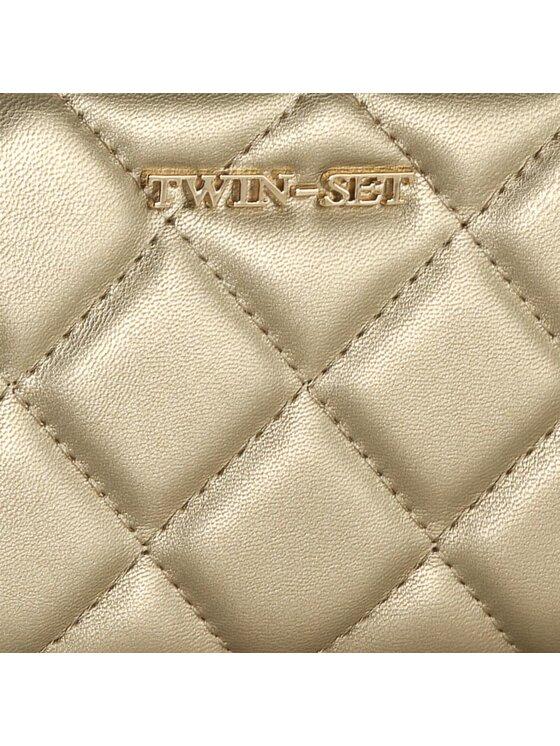TwinSet TwinSet Duży Portfel Damski AA6PEX Złoty
