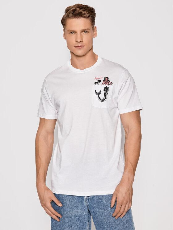 Rip Curl Marškinėliai In Da Pocket CTESZ5 Balta Standard Fit