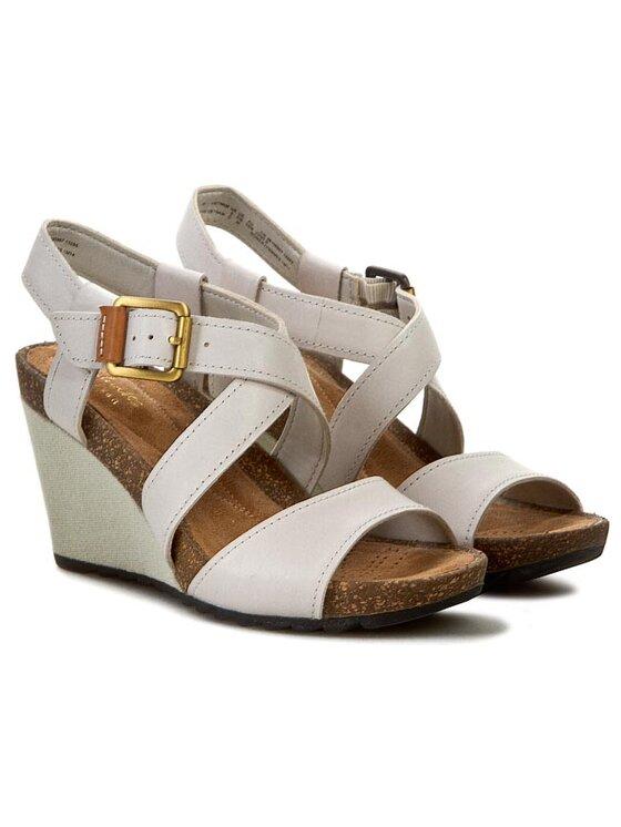 Clarks Clarks Sandále Overly Shimmer 261059074 Béžová