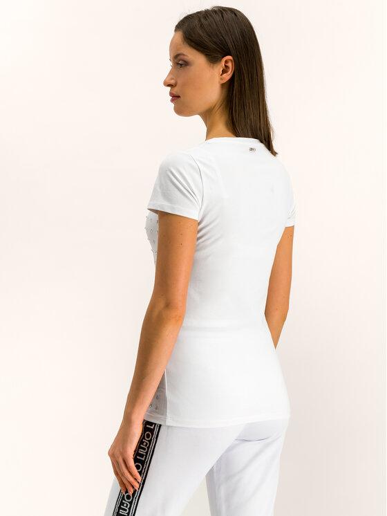 Liu Jo Sport Liu Jo Sport T-shirt T69146 J0088 Bianco Regular Fit