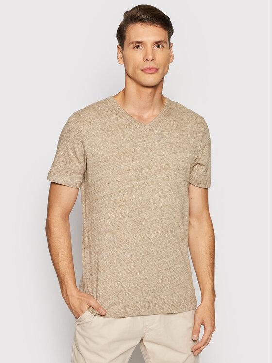 Jack&Jones PREMIUM Marškinėliai Blubowery 12194108 Ruda Regular Fit
