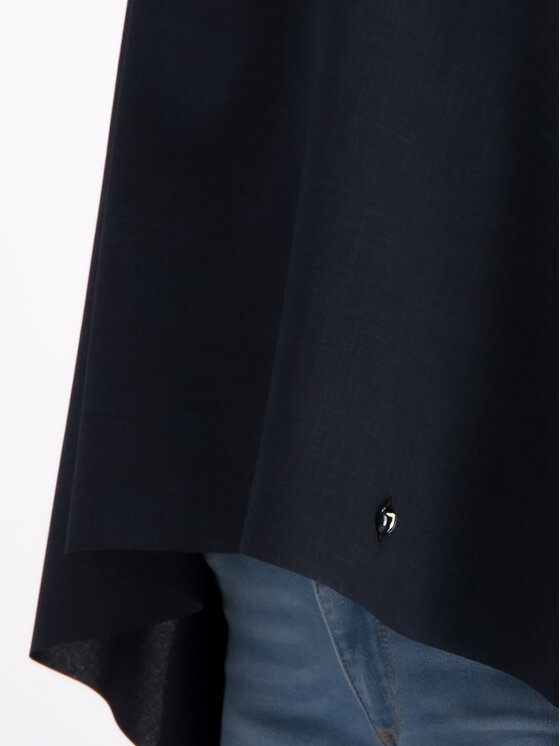 Trussardi Trussardi Blúz Poly Yarn Dyed 56C00198 Fekete Regular Fit