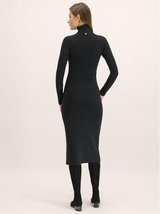 My Twin My Twin Trikotažinė suknelė 192MT3014 Juoda Regular Fit