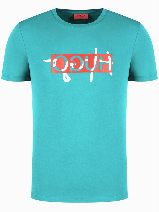 Hugo Hugo T-shirt Unisex Dicagolino 201 Blu Regular Fit