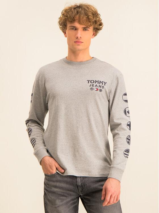Tommy Jeans Tommy Jeans Hosszú ujjú Tjm Bubbled Flags DM0DM07441 Szürke Regular Fit