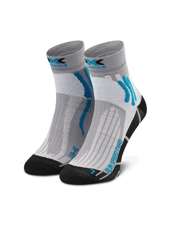 X-Socks Skarpety Wysokie Męskie Run Speed Two XSRS16S19U Szary