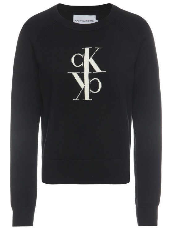 Calvin Klein Jeans Calvin Klein Jeans Svetr J20J213181 Černá Regular Fit