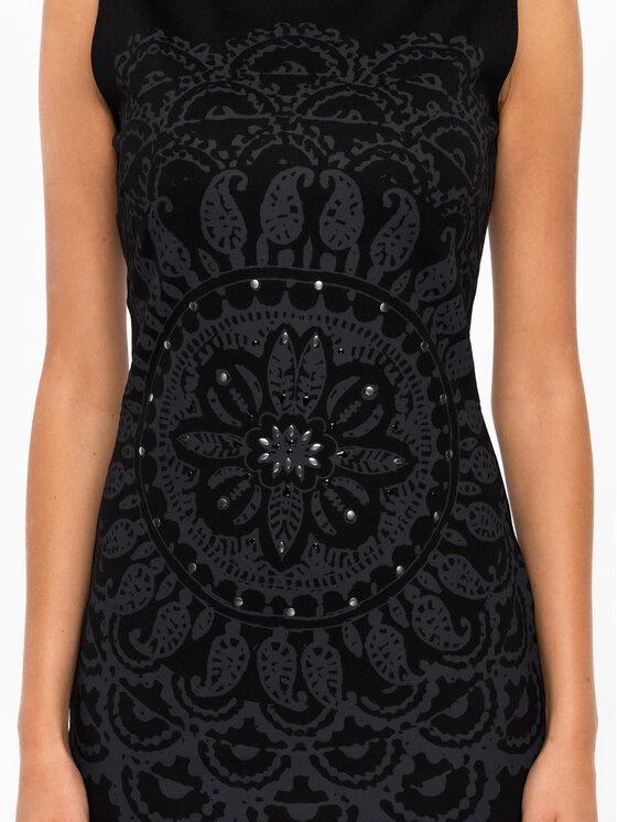 Desigual Desigual Koktejlové šaty 19WWVK28 Čierna Slim Fit