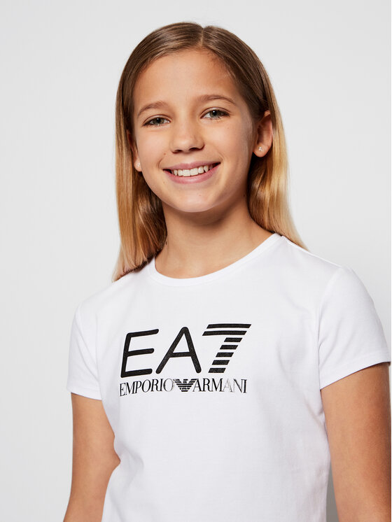 EA7 Emporio Armani EA7 Emporio Armani T-Shirt 3KFT51 FJ2HZ 1100 Biały Regular Fit