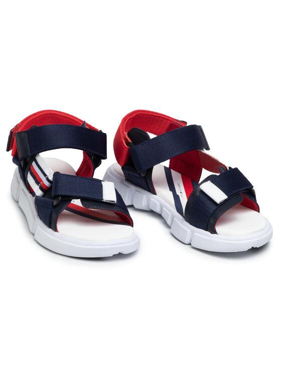 Tommy Hilfiger Tommy Hilfiger Sandały Velcro Sandal T3B2-31111-1176 S Granatowy