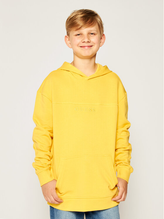 Guess Guess Bluza H01J03 K8D80 Żółty Regular Fit