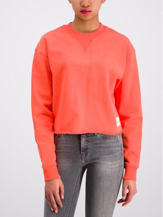 Calvin Klein Jeans Calvin Klein Jeans Felpa J20J211599 Arancione Regular Fit