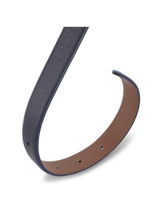 Tommy Hilfiger Tommy Hilfiger Pasek Damski New Painted Metal Loop Belt 2.00CM AW0AW05023 75 Granatowy
