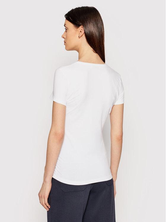 Lacoste Lacoste T-Shirt TF0999 Bílá Slim Fit
