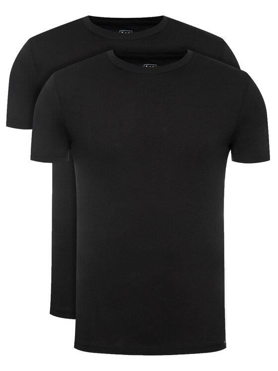 Lee 2 marškinėlių komplektas Twin Pack Crew L680AI01 Juoda Slim Fit