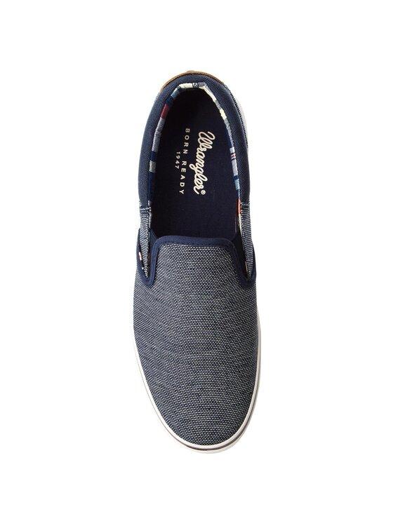 Wrangler Wrangler Sneakers aus Stoff Legend Slip On WM181011 Dunkelblau