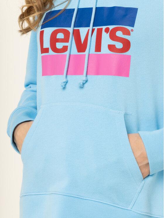 Levi's® Levi's® Mikina Graphic Sport Hoodie Meteorite 35946-0082 Modrá Regular Fit