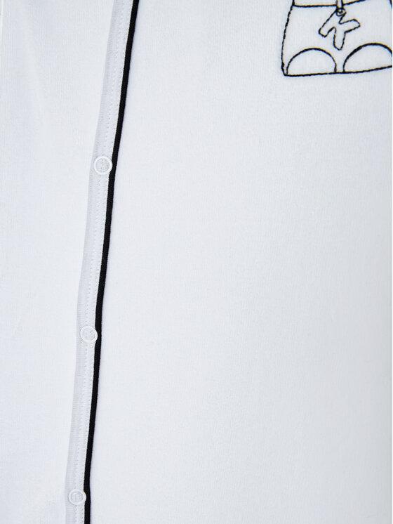 KARL LAGERFELD KARL LAGERFELD Komplet śpiochy i śliniak Z98064 Biały