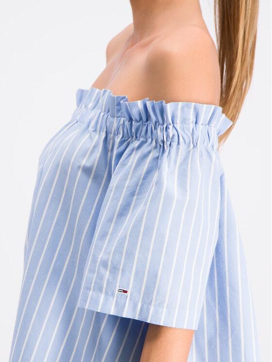Tommy Jeans Tommy Jeans Nyári ruha Off-The-Shoulder DW0DW06667 Kék Regular Fit