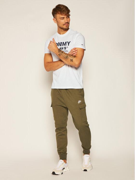 Tommy Jeans Tommy Jeans T-Shirt Tjm Essential Front Logo DM0DM08349 Bílá Regular Fit