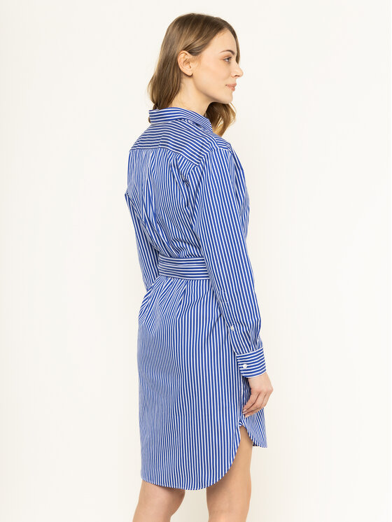 Polo Ralph Lauren Polo Ralph Lauren Marškinių tipo suknelė Striped 211781122 Mėlyna Regular Fit