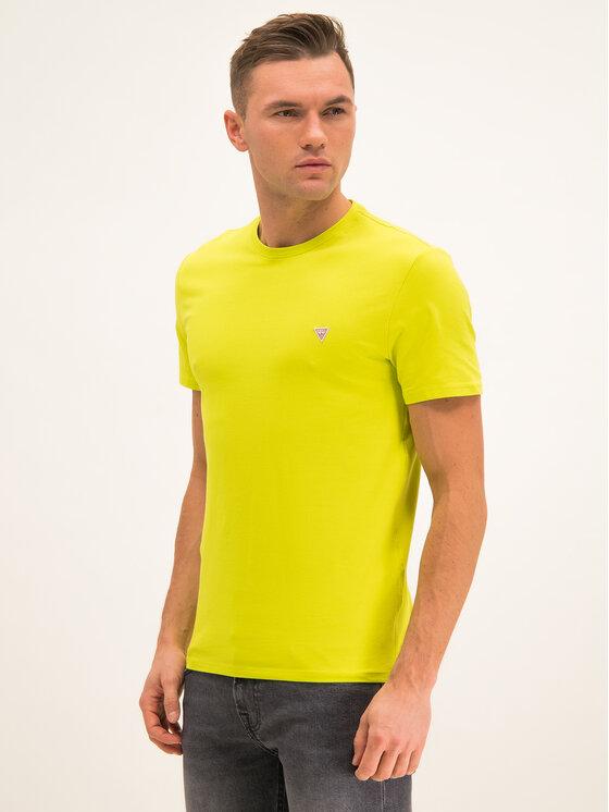 Guess Guess T-Shirt M01I24 J1300 Zelená Regular Fit