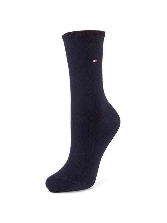 Tommy Hilfiger Tommy Hilfiger Sada 2 párů dámských vysokých ponožek 371221 Tmavomodrá