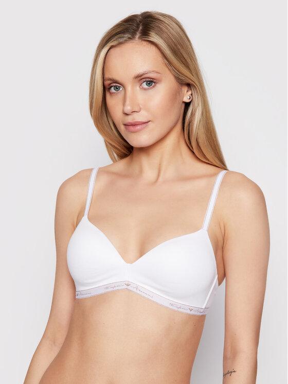 Emporio Armani Underwear Besiūlė liemenėlė 164410 1P223 00010 Balta