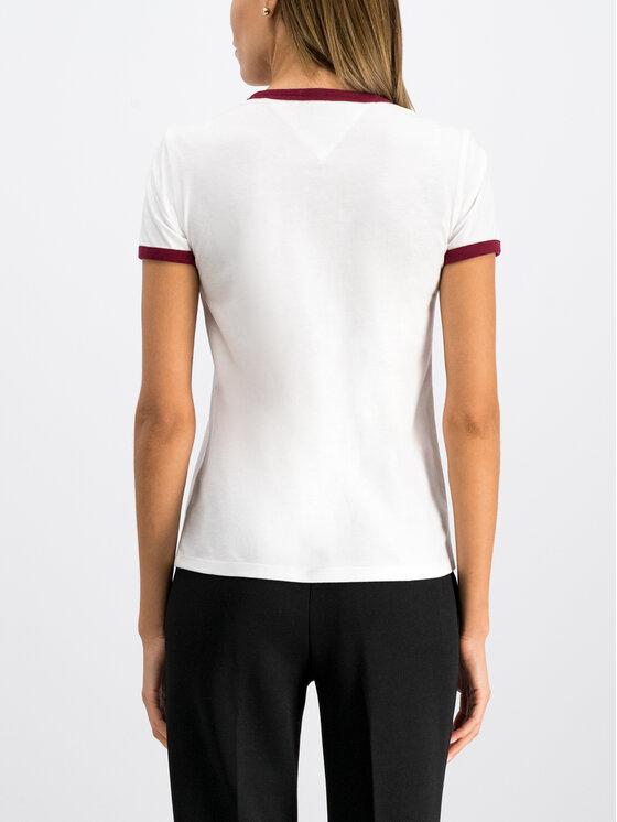 Tommy Jeans Tommy Jeans T-Shirt Tjw Script DW0DW07430 Bílá Slim Fit