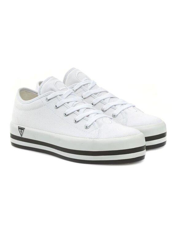 Guess Guess Πάνινα παπούτσια Peace FL5PEA FAB12 Λευκό