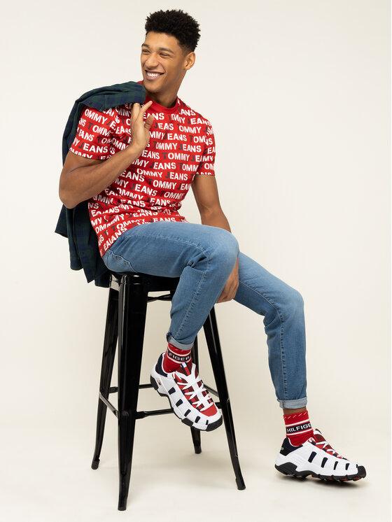 Tommy Jeans Tommy Jeans Marškinėliai Tjm All Over Print Tee DM0DM07467 Raudona Regular Fit