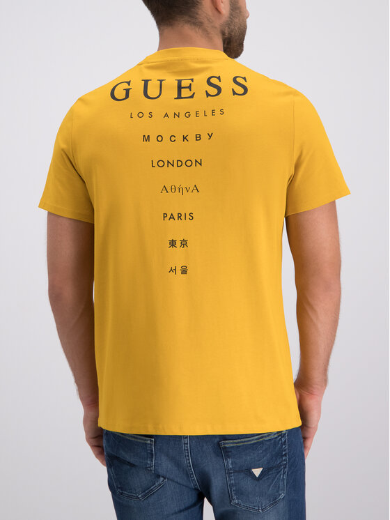 Guess Guess Tričko M93I08 K8FQ0 Žltá Regular Fit
