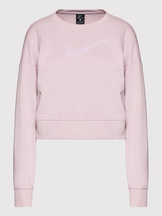 Nike Nike Majica dugih rukava Get Fit CU5506 Ružičasta Oversize