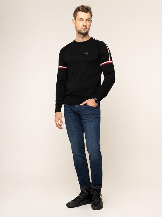 Tommy Hilfiger Tailored Tommy Hilfiger Tailored Пуловер MERCEDES-BENZ Stripe TT0TT05785 Черен Regular Fit