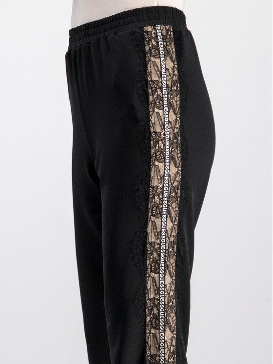 Guess Guess Pantaloni din material Morin W93B71 K8T00 Negru Regular Fit