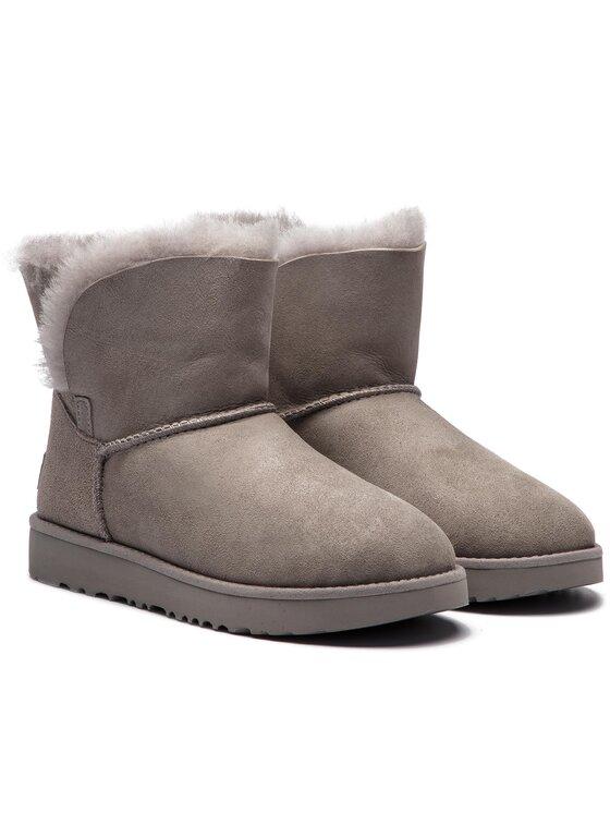 Ugg Ugg Topánky W Classic Cuff Mini 1016417 Sivá