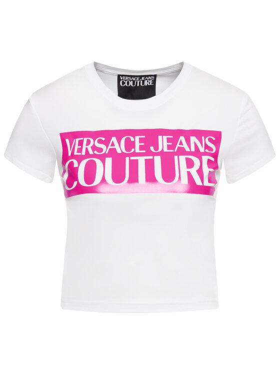 Versace Jeans Couture Versace Jeans Couture Tricou B2HVA7V6 Alb Slim Fit